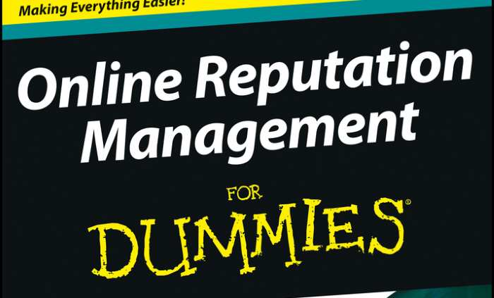 on line reputation for dummies book cover