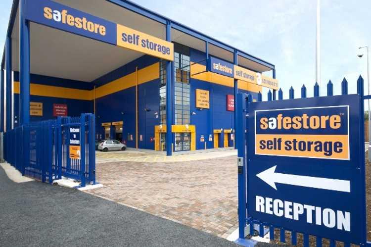 Self-storage business entrance door