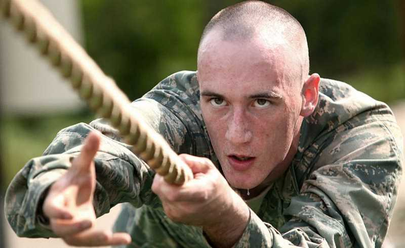 develop your willpower, military on a rope