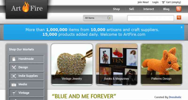 eBay alternative: Artfire