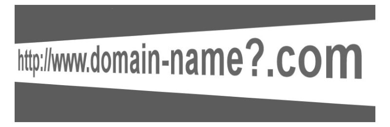 How to Start a Blog - Start Blogging - Step-by-Step Guide - an url address with a question tag for the domain name