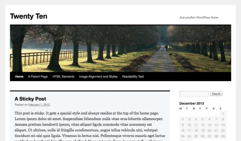 How to Start a Blog - Start Blogging - Step-by-Step Guide - wordpress twenty ten theme home page