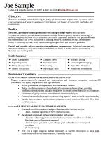 simple functional resume template
