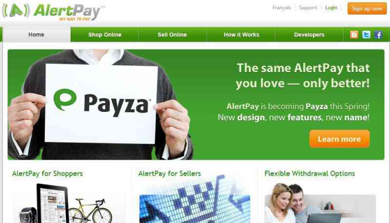 Alternatives to Paypal: Payza