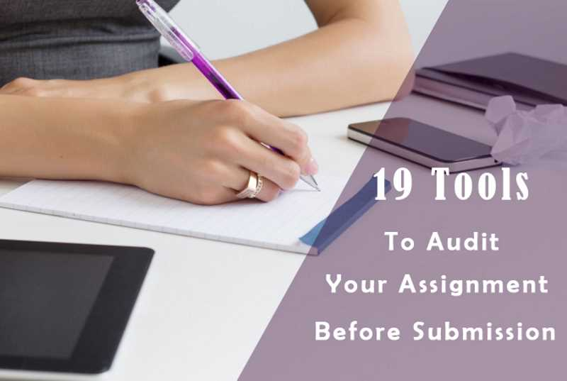 19 tools to audit your assignment before submission - FrugalEntrepreneur