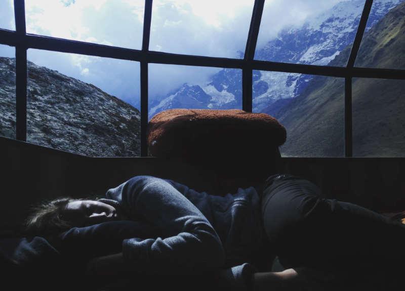 sleeping conditions