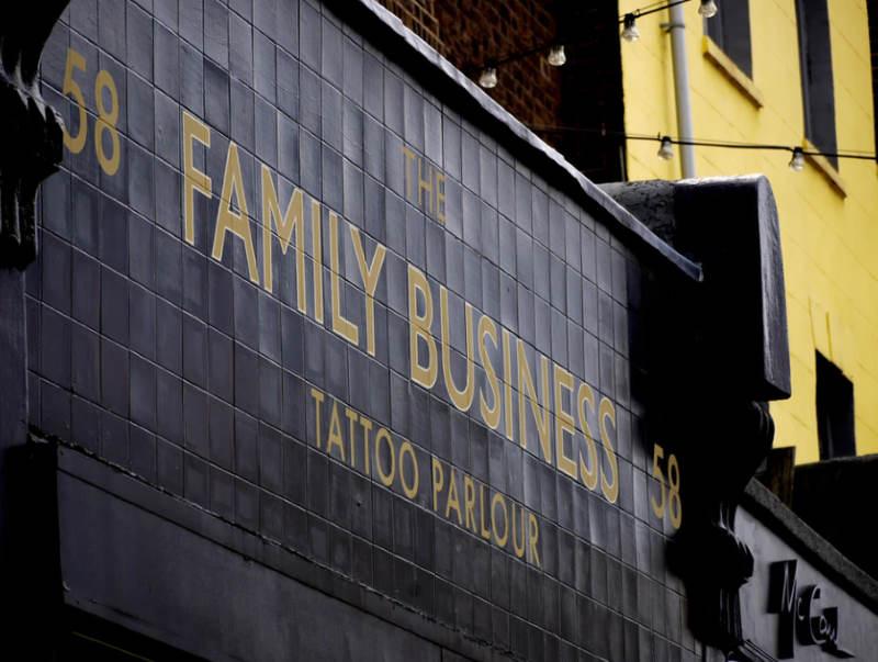 family business - tatoo parlor