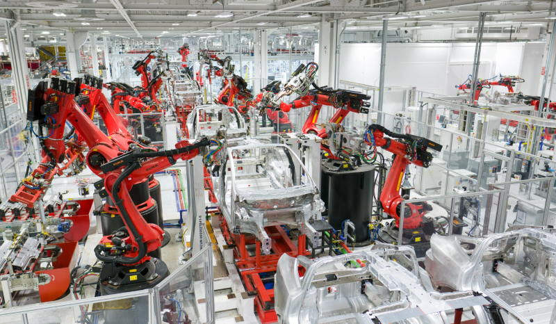 tesla car factory