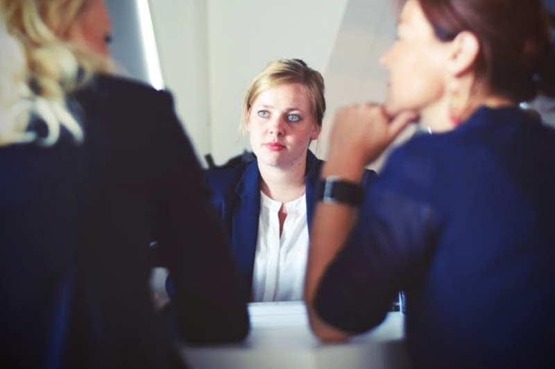 hiring woman discussing