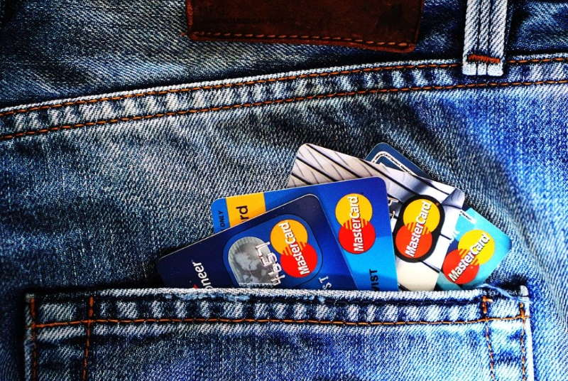 credit cards in jean back pocket