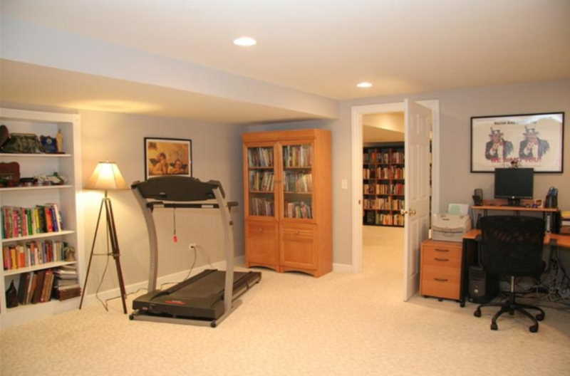 finished basement home office