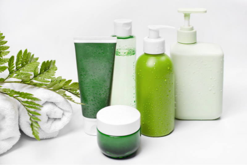 green color skincare products