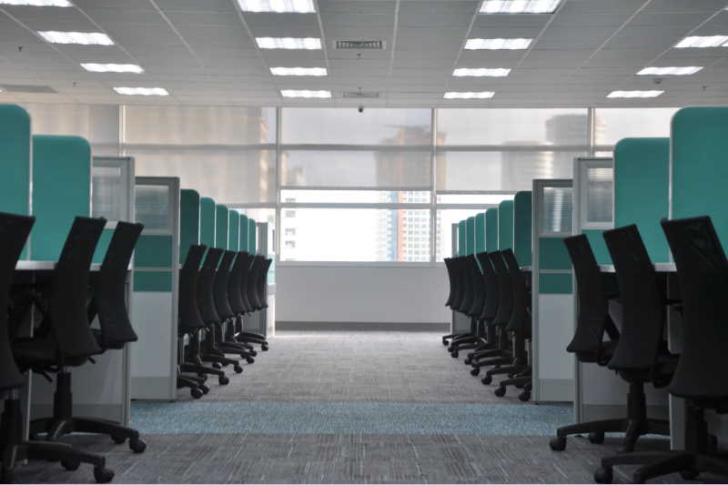 traditional cubicules office space