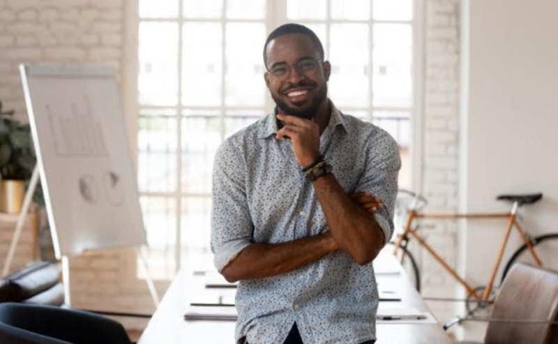 smiling entrepreneur