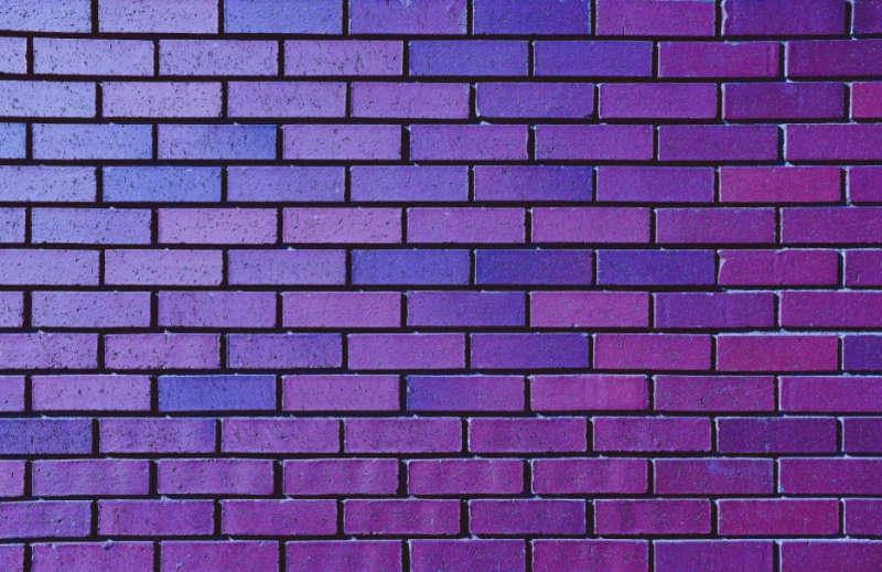 brick wall purple color