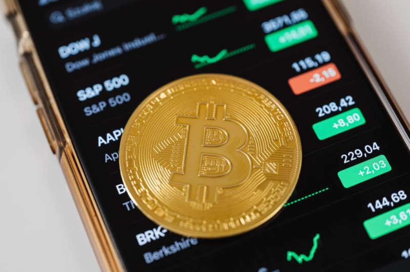 crypto bitcoin on phone