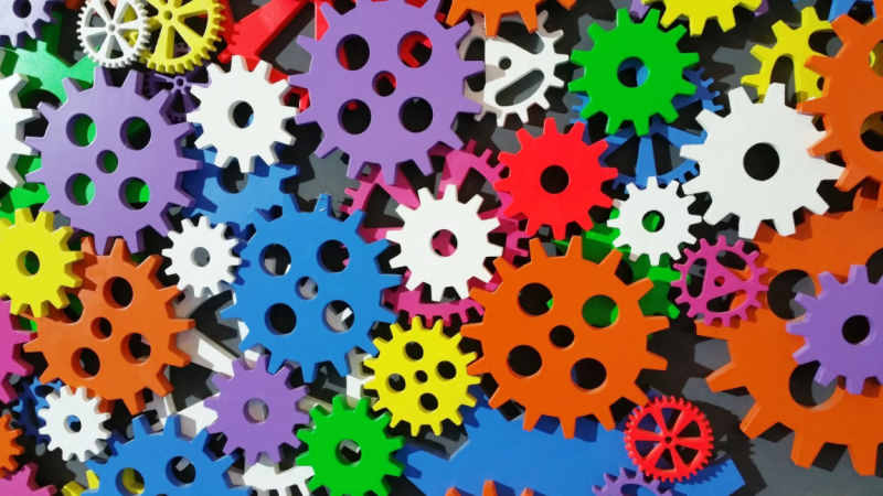 automation colorful cogs