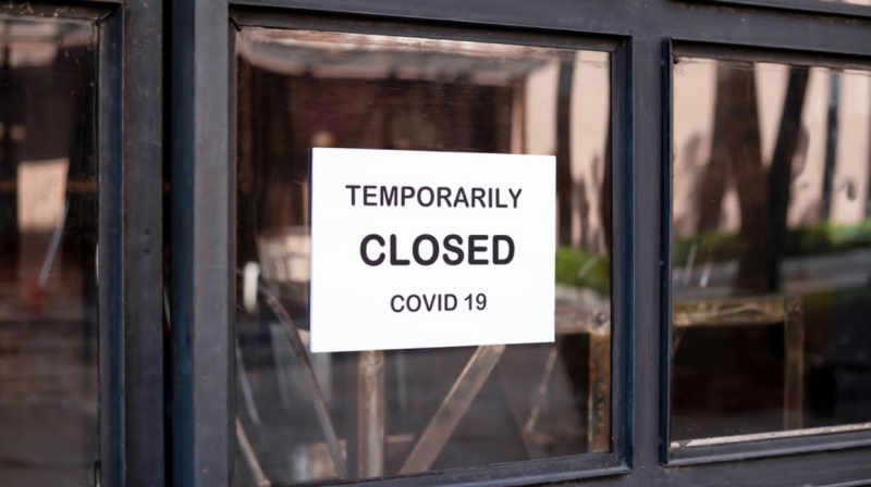 temporary closed shop sign